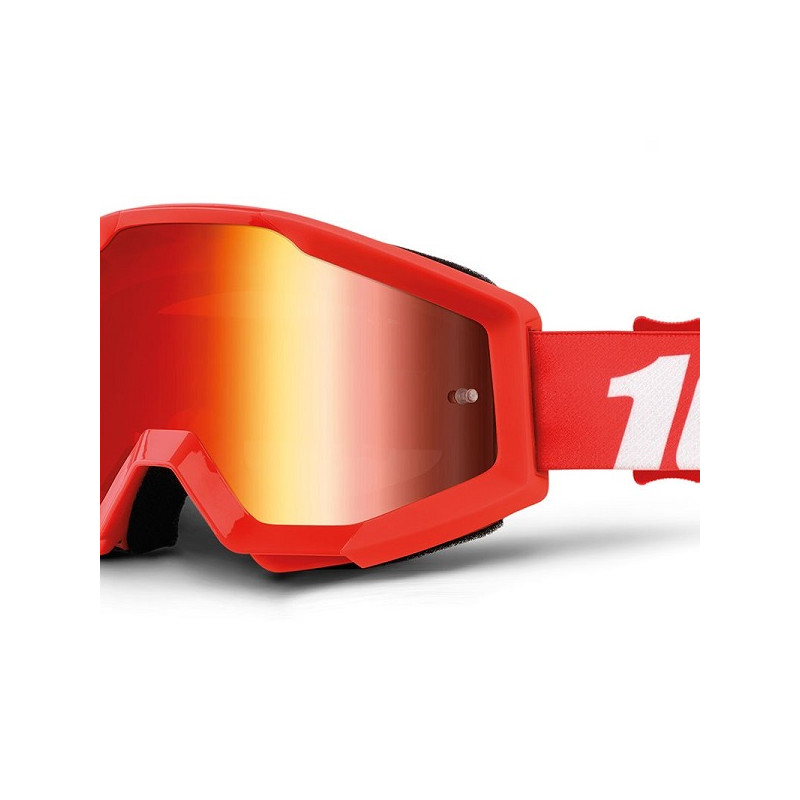 lunettes masque cross 100 strata furnace ecran miroir rouge mx. Black Bedroom Furniture Sets. Home Design Ideas