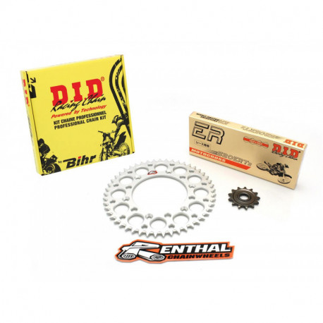 Kit chaine DID RENTHAL 428 type NZ 14/47 Yamaha YZ 85 petites roues 2002-15