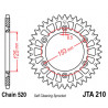 Couronne JT alu type 210 pas 520 52 dents HONDA CR-125 00-01
