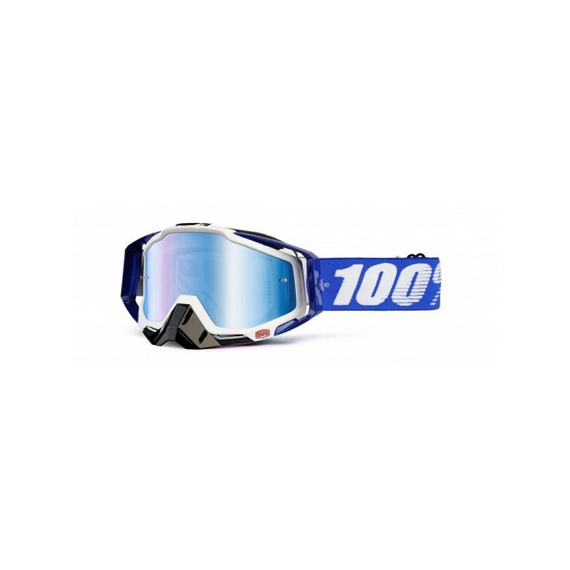 lunettes masque cross 100 racecraft cobalt blue ecran miroir bleu mx. Black Bedroom Furniture Sets. Home Design Ideas