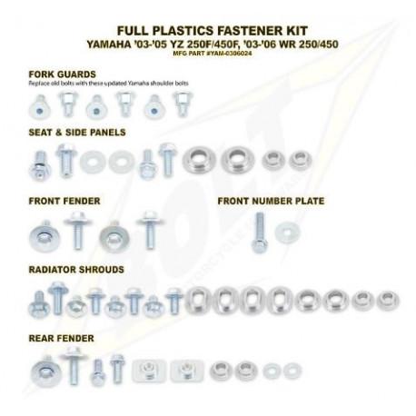 Kit vis complet de plastiques Bolt Yamaha YZF 250 450 2003-05
