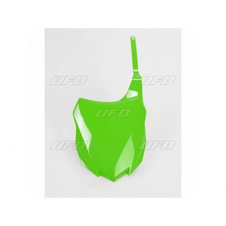 Plaque numéro frontale UFO vert Kawasaki KXF 250 450 2013/16