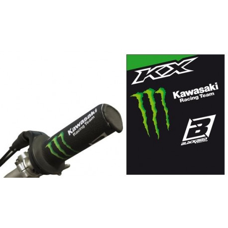 Protection de poignées Blackbird replica Kawasaki Monster Energy