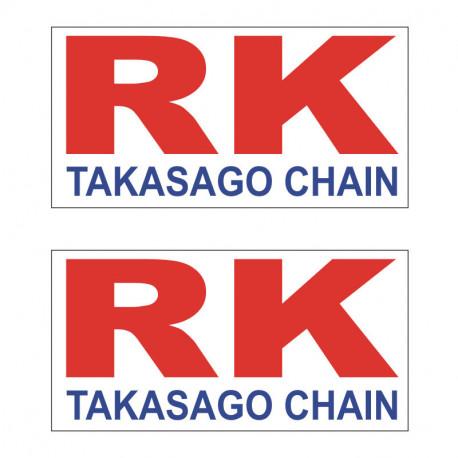 2 AUTOCOLLANTS STICKERS RK RACING 9X4cm
