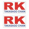 2 AUTOCOLLANT STICKERS RK RACING 9X4cm