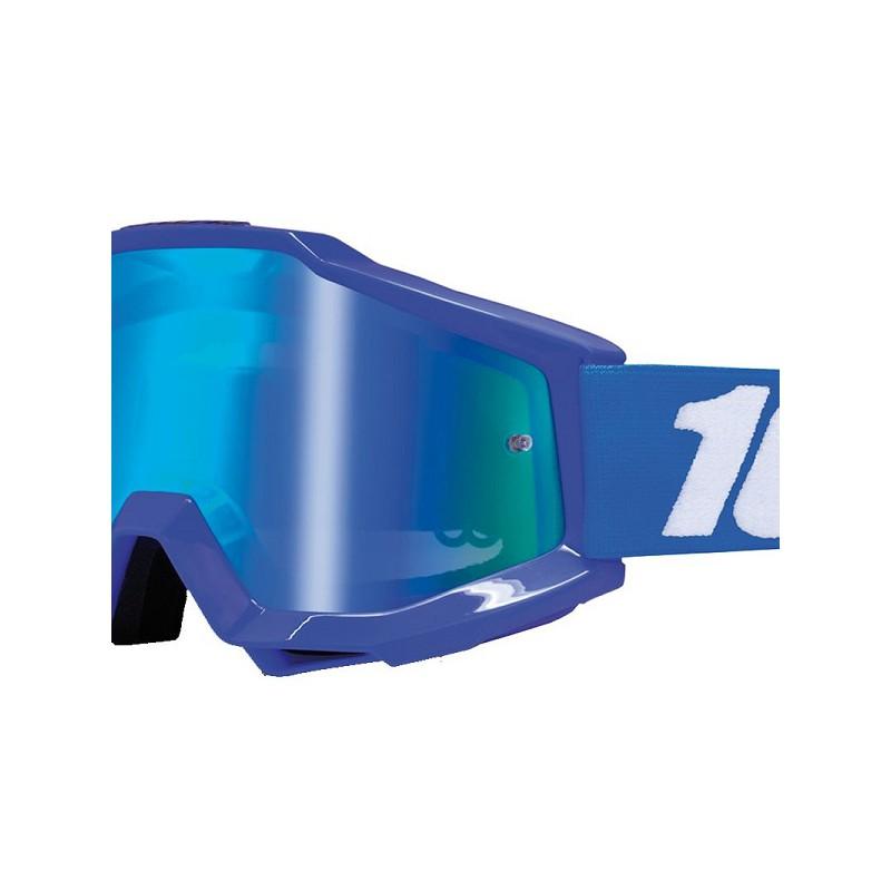 lunettes masque cross 100 accuri reflex bleu ecran miroir bleu mx. Black Bedroom Furniture Sets. Home Design Ideas