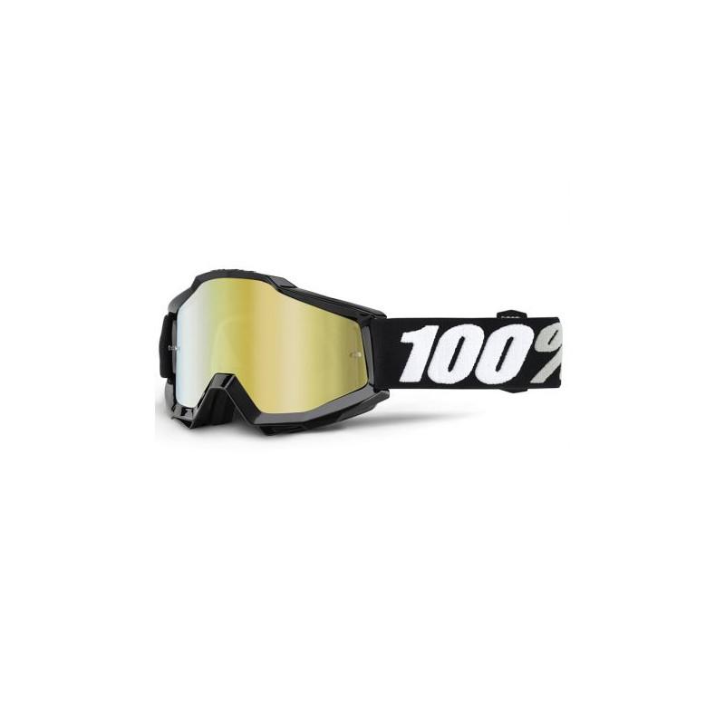 lunettes masque cross 100 accuri tornado ecran miroir or mx. Black Bedroom Furniture Sets. Home Design Ideas