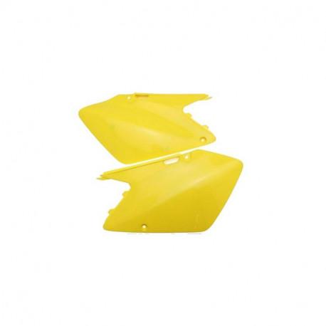 PLAQUES LATERALES jaune Suzuki RM 125 250 01/08