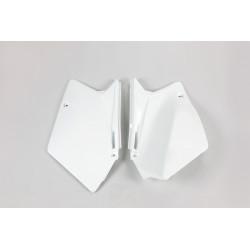 PLAQUES LATERALES blanc Suzuki Rmz 450 05/06