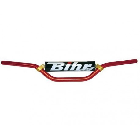 GUIDON MX ONE BIHR ALU 22.2mm ET MOUSSE CR CRF 125 250 450 ROUGE