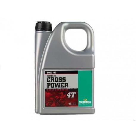 HUILE CROSS POWER MOTOREX 4 TEMPS 10W60 4 LITRES