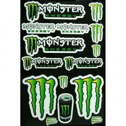 PLANCHE 44X29cm STICKERS AUTOCOLLANT MONSTER