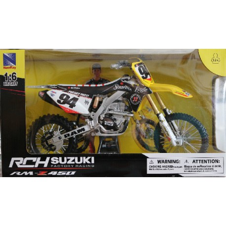 MAQUETTE MOTO CROSS SUZUKI 450 RMZ RCH RACING Team Ken Roczen 1/6 NEWRAY
