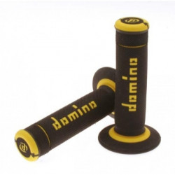 POIGNEES DOMINO OFF-ROAD X-TREME NOIR JAUNE 22 MM
