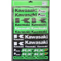PLANCHE 43cm X 29cm STICKERS AUTOCOLLANT KAWASAKI