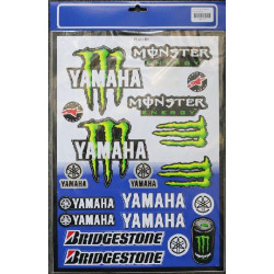 PLANCHE 40cm X 29cm STICKERS AUTOCOLLANT YAMAHA MONSTER