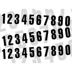 NUMERO DE COURSE NOIR BLACKBIRD - JEU DE 3 NUMEROS 13X7cm