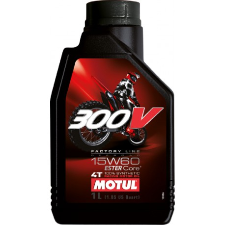 HUILE MOTUL MOTEUR 300V FACTORY LINE OFF ROAD 15W60 4T 100% SYNTHETIC 1 LITRE
