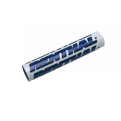 MOUSSE DE GUIDON CROSS RENTHAL BLANC BLEU 245MM