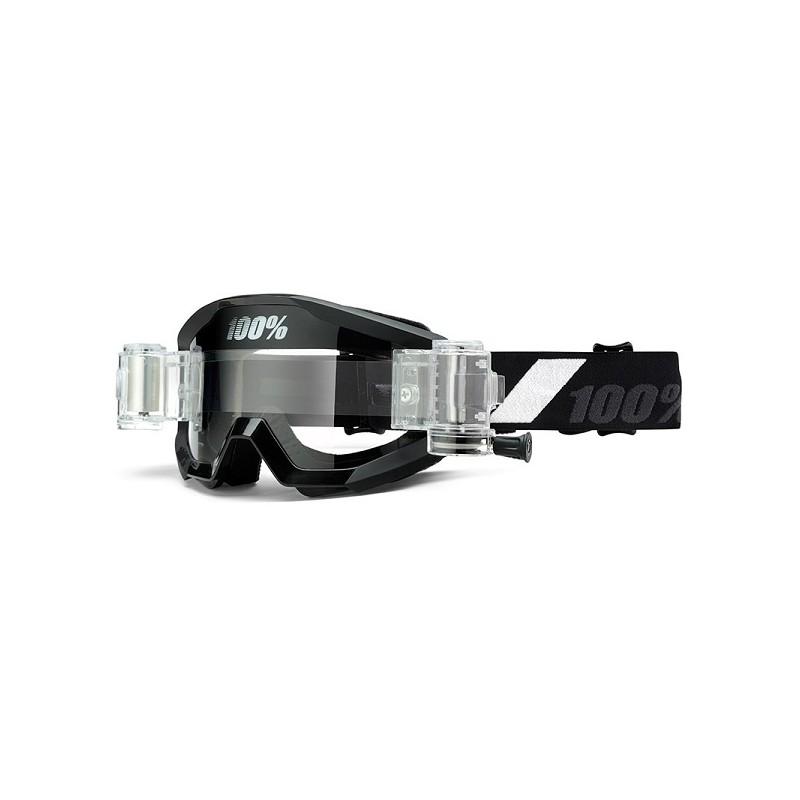 lunettes masque cross 100 strata roll off noir goliath mx. Black Bedroom Furniture Sets. Home Design Ideas