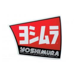PLAQUE LOGO SILENCIEUX YOSHIMURA USA RS4 AUTOCOLLANT