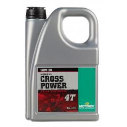 HUILE CROSS POWER MOTOREX 4 TEMPS 10W50 4 LITRES