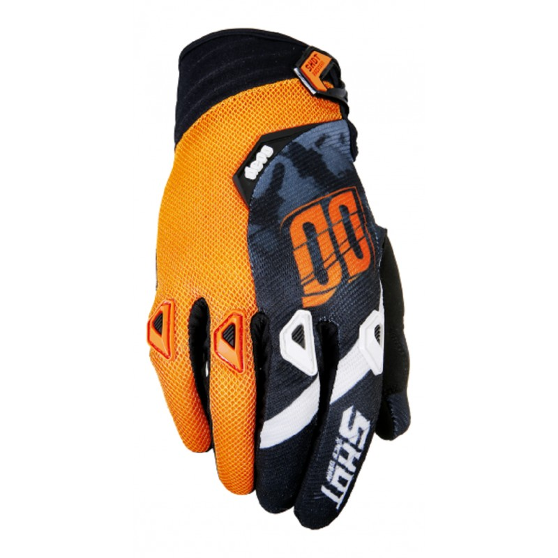 gants moto cross shot squad orange mx. Black Bedroom Furniture Sets. Home Design Ideas