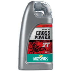 HUILE MOTEUR CROSS POWER 2T MOTOREX 1 LITRE 100% SYNTHETIQUE